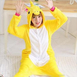 Wholesale Giraffe Onesies Costumes - Adults Winter Totoro Pajamas Flannel Pikachu Panda Unicorn Giraffe Cat Onesies Christmas Pyjamas Kigurumi Cosplay Costume
