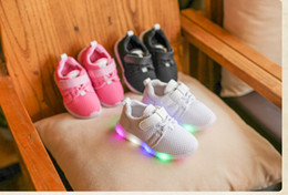 Wholesale Wholesale Toddler Slide - New kids led Running Shoes toddler sneakers boys girls slides Cheap Sneakers Sports Shoes Tennis Children Athletic Shoes Kids Footwear A715