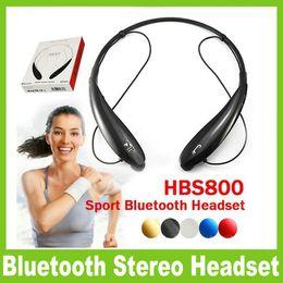 Wholesale Headphone Logo - HBS 800 HBS800 Headphone Wireless Bluetooth Earphone sport bluetooth 4.0 Earphone Handsfree in-ear headphones No logo With Retail Box OM-CD3