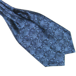 Wholesale Cravat Ascot Necktie Neck Ties - Gentlemen Neckties Men's Paisley Gentlemen Silk Cravat Ascot Ties Handkerchief