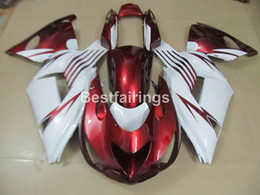 Wholesale White Zx14r - Injection mold fairing kit for Kawasaki Ninja ZX14R 06 07 08 09 10 11 red white fairings set ZZR1400 2006-2011 OP02