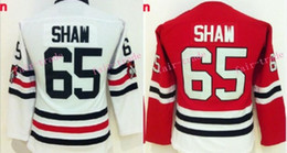 Wholesale Blackhawk Full - Womens Chicago Blackhawks Jersey #65 Andrew Shaw Red Home 100% Stitched Cheap Authentic Women Hockey Jerseys Blackhawk