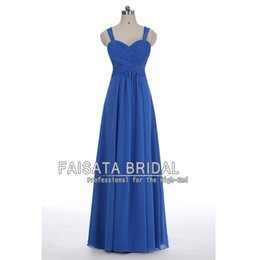Wholesale Jersey Knit Sweetheart Prom Dress - Elegent Cheap Prom Dresses Long Royal Blue Chiffon A Line Evening Dresses 2017 Floor Length Backless Exquisite Straples Evening Party Gowns