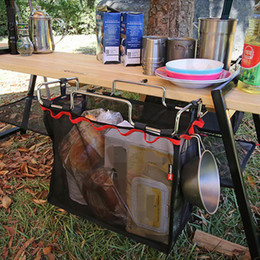 Wholesale Portable Units - Outdoor Camp Kitchen Easy Cookware Storage Unit for Leisure Camping Portable Picnic BBQ Storage Net Pocket S M L