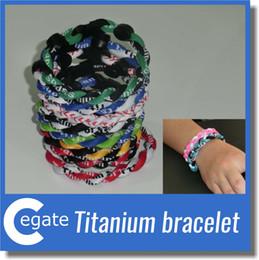 Wholesale Teams Energy Bracelet - Titanium Energy Balance National Hockey League Team Colored Cheer Bracelets Various Color Option Size