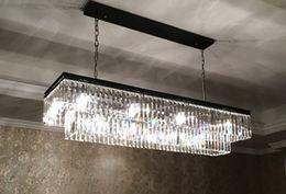 Wholesale Crystal Items - Replica item industrial length 125cm 1920S ODEON CLEAR GLASS FRINGE RECTANGULAR CHANDELIER vintage k9 lustre crystal LLFA