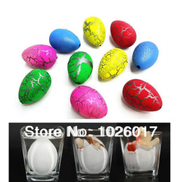 Wholesale Egg Cute - Wholesale-20Pcs small Cute Magic Growing Dino Egg Hatching Dinosaur Add Water Eggs Child Toy Gift