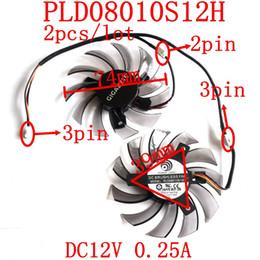 gigabyte großhandel Rabatt Großhandels- Freies Verschiffen PLD08010S12H 2pcs / lot 74mm DC12V 0.25A 39x39x39mm für GIGABYTE Grafikkartenlüfter