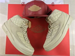 Wholesale Muscle Beach - Wholesale top quality air retro 2 II Just Don Beach MEN basketball shoes sports sneakers trainers box high cap size 7-12