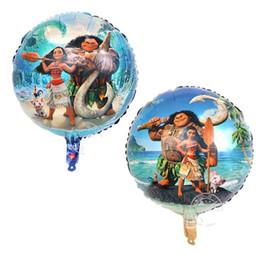 """Wholesale Helium Balloon Cartoons - Aluminium Foil Ball Helium Balloon Toy & Gift Moana Balloon Birthday Party Decoration 18"""" balloon kids toys"""