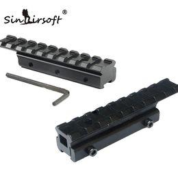 Nouveau CNC d'usinage Tactical Scoved Scope Scope Extend Mount 11mm to 20mm Adaptateur de rail Picatinny Weaver Convient au rail de 11mm en queue d'aronde. ? partir de fabricateur