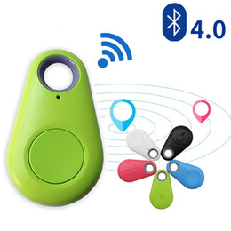 Wholesale Gps Auto Locator - Smart Wireless Bluetooth 4.0 Anti-lost Anti-Theft Alarm Device Tracker GPS Locator Key Dog Cat Kids Wallets Finder Tracer