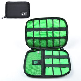 Wholesale Portable Electronic Organizer - Portable Travel zipper USB Cable Storage Bag Organizer Nylon Phone Charger Case For Electronic Accessories