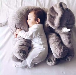 Wholesale Giant Baby - Giant Elephant Plush Toy Pillow for Baby Big Stuffed Elephant Pillow and Doll Cute Elephant Plush Pillow Cushion 55cm