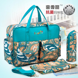 Wholesale Waterproof Material Baby - Wholesale-Hot Sale Shipping Free Antimicrobial Baby Diaper Bag Waterproof Mommy Bag Fashion Nappy Bag With Waterproof Nylon Material