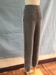 Wholesale pleated wool pants - Wholesale-Winter, wool sweater, cashmere knitting, trousers, thick warm pants can be wholesale FREE SHIPPING J45