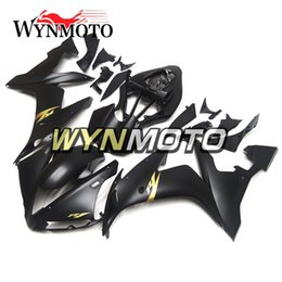 Wholesale Yamaha R1 Gold Fairings - Complete Fairings For Yamaha YZF R1 2004 2005 2006 YZF1000 R1 Injection ABS Motorcycle Fairing Kits Motorbike Black Gold Decals Cowlings