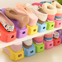 Wholesale Shoebox Storage Boxes - 2017 Prateleira Wall Shelf New Shoe Rack Modern Fashion Double Cleaning Storage Convenient Shoebox Shoes Organizer Stand