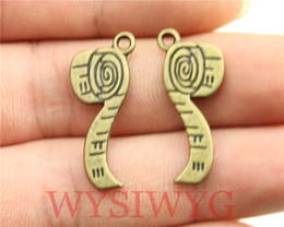 Wholesale Wholesale Antique Toilets - Wholesale- WYSIWYG 8pcs 27*11mm diy vintage antique bronze plated Toilet paper charms