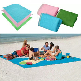 Wholesale Large Beach Mats Wholesale - Sand Free Mat Blankets 200*200cm Swimming Mat Tapestry Picnic Sandless Mattress Camping Shawl Beach Mat Polyester Bath Towel Large Size