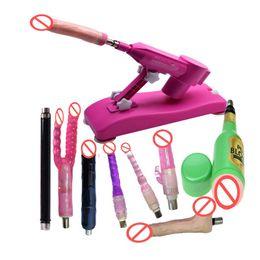 2019 pistola consolador rosa Pink Sex Machine Gun Set con Big Dildo Female Masturbation Sex LOVE Machine Sexual Sexual Robot Sex Toys para mujeres pistola consolador rosa baratos