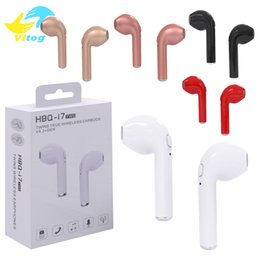 Wholesale Color Iphone - Original HBQ i7 TWS Twins True Wireless Earbuds Earphone Mini Bluetooth V4.2 DER Stereo Headset Sports Headphone For iPhone 8 X Galaxy S8