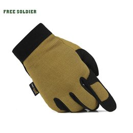 Wholesale Red Climbing Gloves - FREE SOLDIER outdoor sports hiking camping riding climbing gloves men's glove tactical gloves wear non-slip
