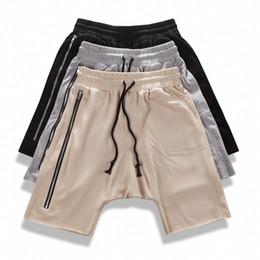 Wholesale Street Board - Wholesale- Hot sale fashion men hip hop harem shorts high street casual short homme mens fear of god board shorts drop crotch swag bermuda