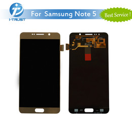 Wholesale Note Screen Parts - For Samsung Galaxy Note 5 AAA Quality LCD Display Touch Screen Digitizer Assembly Good repair Replacement Parts With Free DHL Shipping