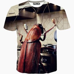 Wholesale Nice Clothes Men - Cockroach T shirt Kitchen roach short sleeve gown Cool leisure tees Nice printing clothing Unisex cotton Tshirt