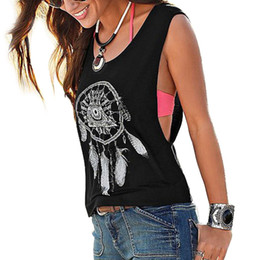 Wholesale Fashion V Neck Tshirt - Wholesale-New Womens Summer 2016 Casual tshirt Sleeveless off shoulder Blusas Casual Fitness Tops Women T-Shirt Vest Top Clothes F1