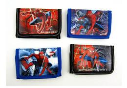 Wholesale Change Movie - Wholesale- Fashion Cartoon Spider Man Coin Purse Children Zip Change Purse Wallet Movie Kids Girl Women Pouch Bolsa For Gift