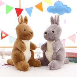 Wholesale Toys Kangaroos - 2017 new fabric of the rabbit fur kangaroo doll's toy girl's birthday gift souvenir customization