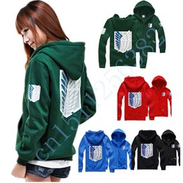 Wholesale Shingeki Cosplay - Wholesale-shingeki no kyojin attack on titan hoodies movie costumes anime cosplay hoodies men women suit coat black XXL for couples cotton