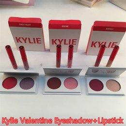 Wholesale Valentines Wear - Newest Kylie 2 Colors Eyeshadow main squeeze and sweet thing,poison and in love,love letter and baby For valentine Gift