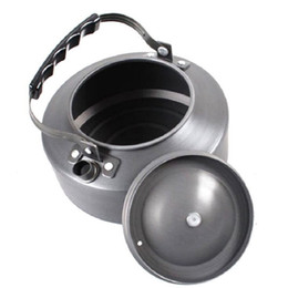 Wholesale Aluminum Coffee Kettle - Wholesale Super Thick Hard Convenient Kettle Pot Portable Outdoor Camping Teapot Coffee Maker 1.1L Free Shipping