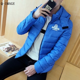 Wholesale Big Beautiful Men - Wholesale- 2016 Winter Necessity Warm Beautiful Fashion Casual Intimate Wadded Jacket Coat Plus Big Size 3XL Wholesale Hot Selling