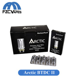 Wholesale Bottom Dual Coil - Authentic Horizon Arctic Coil Heads Replacement BTDC 0.2ohm 0.5ohm Bottom Turbine Dual Coil DHL Free
