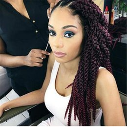 Wholesale Freetress Synthetic Hair - Free Shipping 3D Cubic Twist Crochet Braids Afri Naptural TM Split Synthetic Ombre Havana Mambo Senegalese Freetress Twist Hair Extensions
