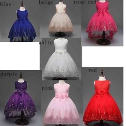 Wholesale Wedding Clothes For Children - New Girl Dress Summer Princess Party Dresses For Girls Sleeveless elegant Wedding Party Children Clothes Baby Clothing Vestidos