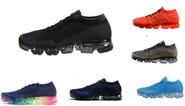 Wholesale Champagne Black Lace Shoe - New Vapormax Mens sneaker Shoes For Men Sneakers Women Fashion Athletic Sport Shoe Corss Hiking Jogging black Vapor Maxes Outdoor Shoes