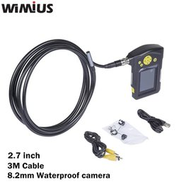 Wholesale Endoscope 3m - Wholesale-Wimius 2.7inch 3M Cable 8.2mm Waterproof Digital LED Inspection MIni Camera Car Endoscope HD Borescope Snake Tube Repair Tool
