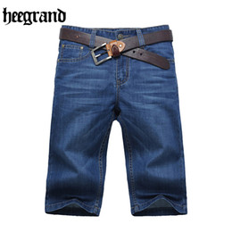 Wholesale Shorts Destroy - Wholesale- HEE GRAND Men Summer Straight Washing Destroy Wash Short High Quality Leisure Fashion Solid Men Short
