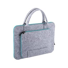 Wholesale Felt Laptop Cover - VBESLIFE New 13 15inch Fashionable Felt Laptop Sleeve Case Anti-scratch Cover Bag For Macbook air Tablet PC Protector Case Cover