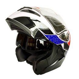 Wholesale Full Face Motorcycle Helmet Dot - DOT Approval Motorcycle Full Face Helmet Double Lens Flip Up Motor Bike Casco Capacetes FF902