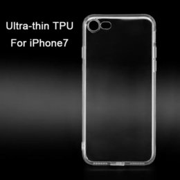 Wholesale Iphone Case Plug Dust - Ultra Thin Transparent TPU Case for Apple iPhone7  6 6s Plus Soft Protective Edge Back Cover for iPhone 7 Plus with Dust Plug