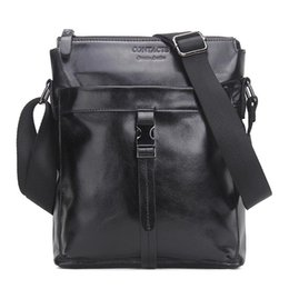Wholesale Brown Men Business Bag - Famous Brand Genuine Cow Leather Men Bag Casual Business Mens Messenger Bag Vintage Men's Crossbody Bag Bolsas Male