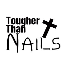 Wholesale Cross Nail Decals - 2017 Hot Sale Car Styling Tougher Than Nails Christian Cross Jesus Motorcycle Car Decals JDM