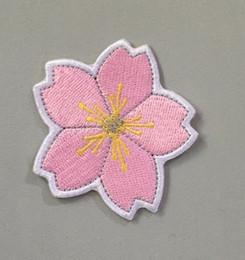 2019 bügelnder aufkleber kleidung Mode Applique Sakura Eisen auf Patch Stickers Stickerei Abzeichen Motive Cartoon Kleidung Emblem