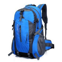 Wholesale Men Waterproof Backpack - Wholesale- VOJUAN Fashion Male Backpack 2017 Casual Men Women Waterproof Backpack Nylon Travel Hike Camp Climb School Rucksack Bagpack